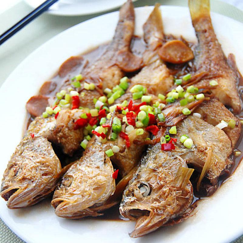 葱烧黄花鱼