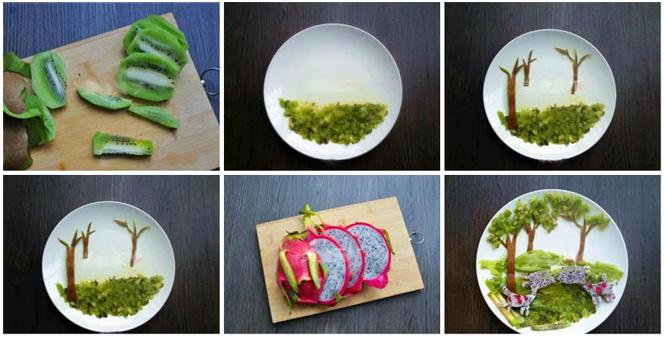 水果拼盘是日常饮食中的饭后甜点。本期宝宝食谱为各位宝妈们推荐儿童食谱之水果拼盘,先看下图的卡通水果拼盘,是不是很漂亮很精致。这种水果拼盘做起来其实是很简单的,宝妈们有空的时候可以在家里试着给宝宝做一个精致的卡通水果拼盘。